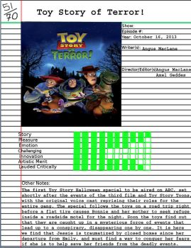 Admirable Animation: Toy Story of Terror by Disneycow82