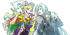 Kefka and Sephiroth by uekiOdiny