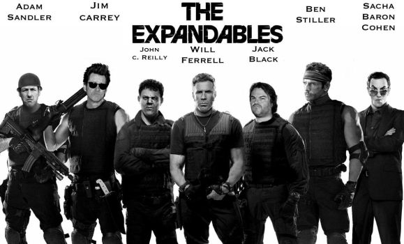 The EXPANDables (parody poster) by Tony-Antwonio