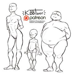 Body types reference sheet by Kibbitzer