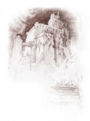 The Spires of the Pale City by zypherax