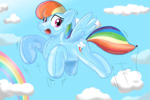 Dashie becomes 20% Balloonier by Redflare500