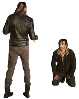 Negan and Rick - Vector by Simmeh
