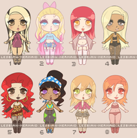 Baby Girl Adopts: OPEN by lesbian-mermaid
