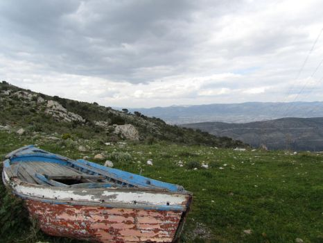 Boat on the Hill 2 by Mandragoras