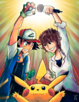 Ash Ketchum and Rica Matsumoto by Patrick-Theater
