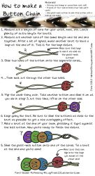Button Chain Tutorial by NetherStray