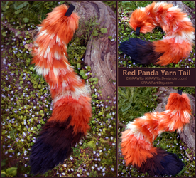 Red Panda Yarn Tail Set by KiRAWRa