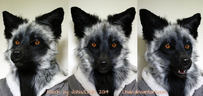 Silver fox mask by Lhuin