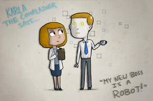 My New Boss Is A Robot by Super-Cute
