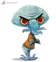 Daily Painting 896# Squidward by Cryptid-Creations