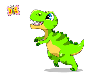 Rory The Little Dinosaur by YoshiHQDA