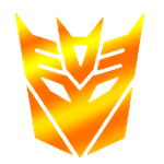 Deceptickon gold logo by IamSurvivor