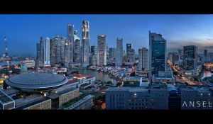 The Skyline from the Sky by Draken413o
