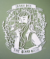 Sarah Dee the Beard Queen by Lynndoodles