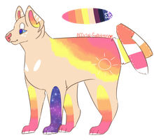 Sunset Dog Adoptable (closed) by Official-Fallblossom