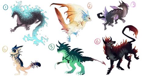 Hybrid creature adopts! -Closed- by Taluns