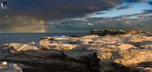 Sunset, Rainbow, Storm by ximo