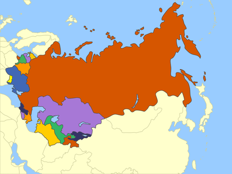 Russia And Eastern Countries (Mute Political Map) by Fernikart57