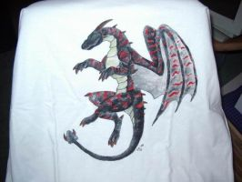 Dragon-T-Shirt by Psydrache