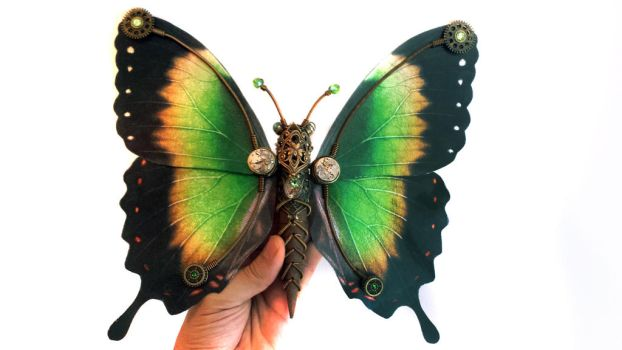Steampunk butterfly no.5 by CatherinetteRings
