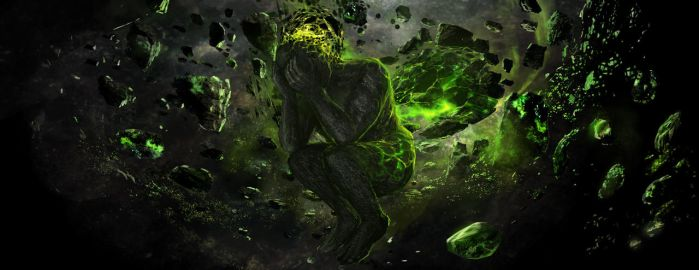 crying lord in space by Guang-Yang