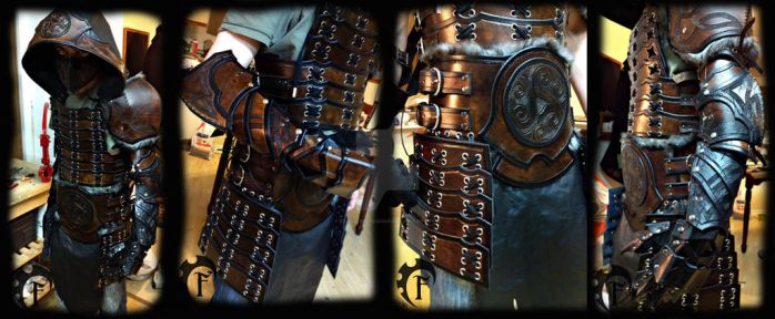 Samurai inspired leather armor by Feral-Workshop