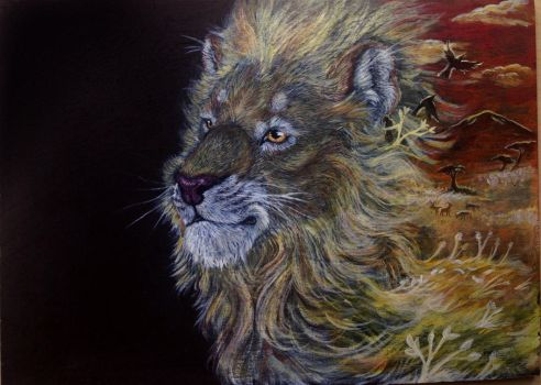 African Lion by TinyThumbs