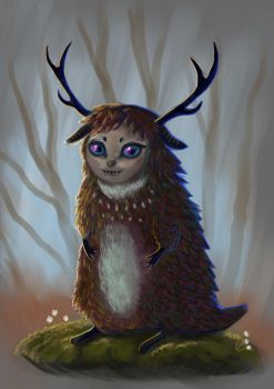Cute Forest Spirit by Cinder-Cat