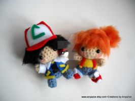 Ash and Misty dolls by AnyaZoe