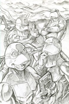 4 Brothers in a Halfshell WIP by RyanJampole
