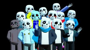 MORE of The MMD Sans Skins! :D by cjc728