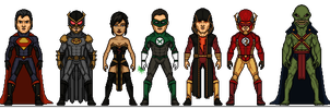 Crime Syndicate Redesign by Melciah1791