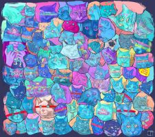 Cat faces collection (From commissions) by SuperPhazed