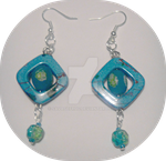 Seabreeze Blue Earrings SOLD by SavageFrog