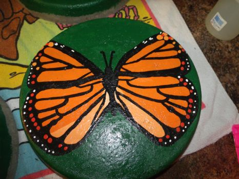 Monarch Butterfly Stepping Stone 3 by EllaRow