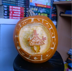 Bill Cipher Pumpkin by wolfieblob