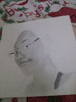 In progress - Self portrait by AJInu-Okami