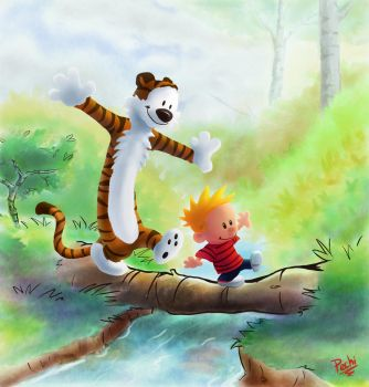 Calvin and Hobbes by pechi1