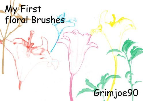 floral brushes by grimjoe90