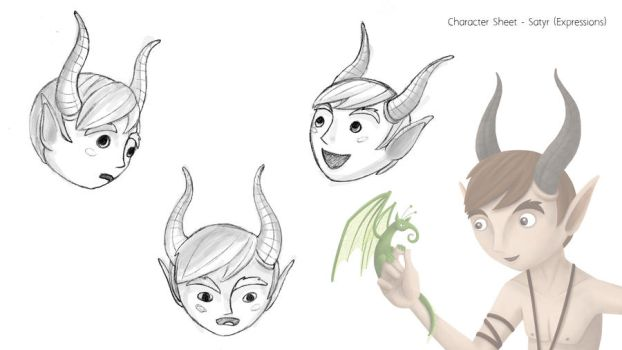 Satyr Concept - Expressions by MiniMonsterMill