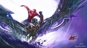 Spider-man homecoming: Spider-man capture Vulture by Quan-Xstyle