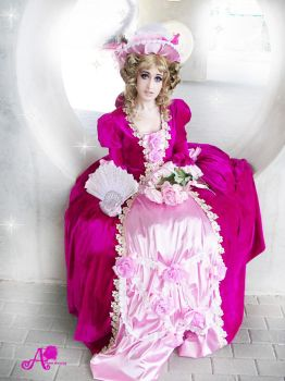 marie antoinette cosplay versailles no baracosplay by Annaryshining