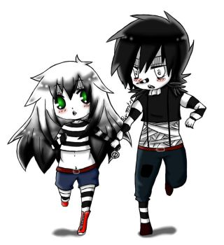 Commission: Jessie and Laughing Jack by Jackross-V