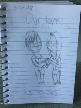 Our love is god  Amyplier AU doodle by SplashyVerse