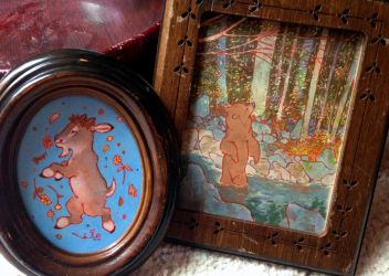 tiny framed pieces by luve
