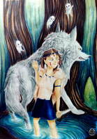 Princess Mononoke by Aohakath