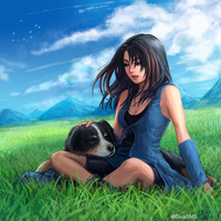 FF8 - Rinoa and Angelo by Dice9633