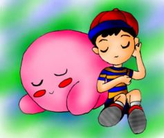 Kirby and Ness by SigurdHosenfeld