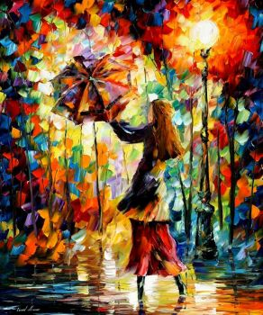 Rainy Mood by Leonid Afremov by Leonidafremov